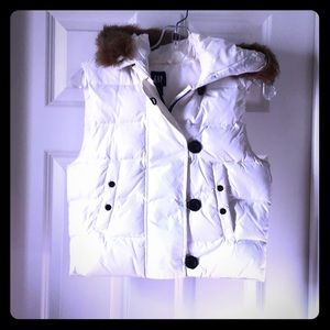 👜 GAP🌺 Fur Hood Vest
